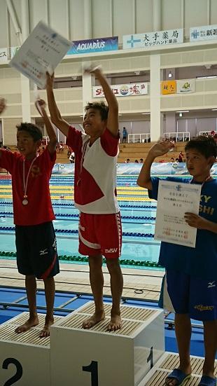 50m平泳ぎ優勝 佐藤未来選手