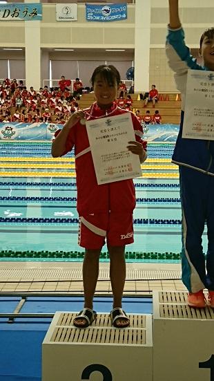 100m自由形2位 神田行奈選手